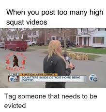 Detroit Meme - when you post too many high squat videos deadlie live7action news