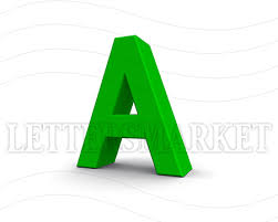 lettersmarket 3d blue letter a isolated on a white background