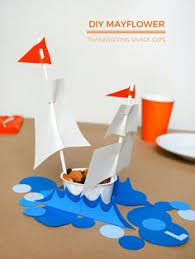 thanksgiving tepee and mayflower snack cups for the table