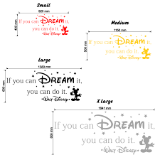 if you can dream it you can do it walt disney quote wall walt disney if you can dream it you can do it wall decal size chart