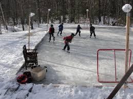 homegrown backyard hockey rink given backyard ice rinks