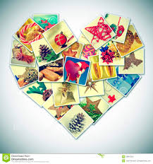 Heart Shaped Items Heart Shaped Christmas Pictures Collage Stock Photos Image 33881203