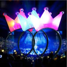 aliexpress com buy 10 styles new 1pc fashion solar powered 1pc light up crown headbrand polka dot blinking led flashing for