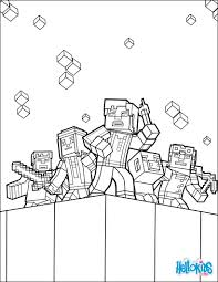 minecraft coloring page explore the world coloring pages