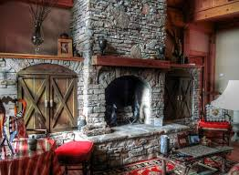 living fireplace with wood storage built in room double brown