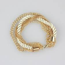 braid rope bracelet images Gold chain braided rope bracelet bliss ever after jpg