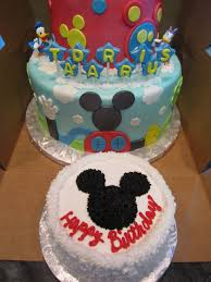 mymonicakes tiered mickey mouse clubhouse cake with smash cake