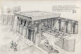section through hypatia u0027s classroom the library of alexandria