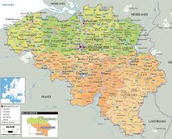 Political Map Of Europe by Maps Of Belgium Detailed Map Of Belgium In English Tourist Map