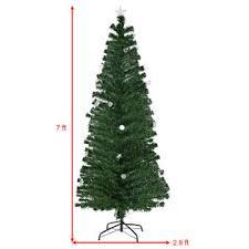 7ft christmas tree goplus 7ft pre lit fiber optic artificial christmas tree w