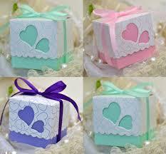 mint wedding favors 100pcs mint green pink purple wedding favors square heart
