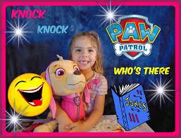 paw patrol skye say u0027s funny knock knock jokes for kids on