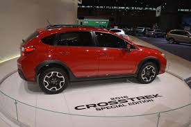 subaru crosstrek 2017 subaru xv crosstrek special edition hides between concepts at chicago