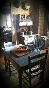 Primitive Kitchen Table by Primitive Colonial Dining Room Farmhouse Pinterest