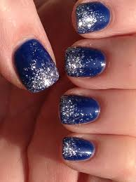 dallas cowboys nail design ombré glitter nails for any blue team
