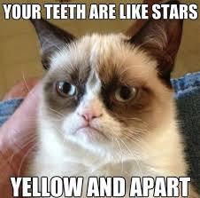 Yellow Teeth Meme - your teeth are like stars yellow and apart memes and comics