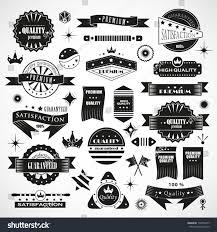 vintage design vintage design elements labels retro vintage stock vector