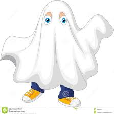 cute halloween ghost pictures cute cartoon kid in a ghost costume celebrating halloween stock