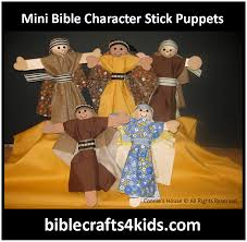 free instructions how to make miniature bible character stick