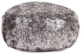 silver fox foot pouf ottoman contemporary floor pillows and