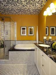 black and yellow bathroom ideas cool bathroom wallpaper moncler factory outlets com