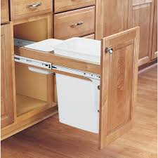 Kitchen Cabinet Garbage Drawer Shop Rev A Shelf 35 Quart Plastic Pull Out Trash Can At Lowes Com