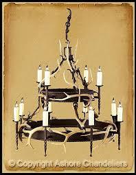 Lodge Lighting Chandeliers Ashore Chandeliers Antler U0026 Iron Chandeliers