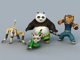 kung fu panda characters 3d model 3ds max files free download