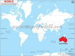 location of australia on world map where is australia australia location in the world map