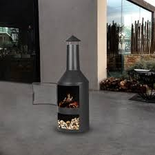 Chimney Style Fire Pit by Ikayaa Chimney Metal Patio Garden Outdoor Fire Pit Lovdock Com