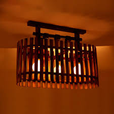 Bamboo Ceiling Light Unique Bamboo Country Semi Flush Mount Ceiling Lights