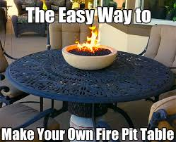 Make A Firepit How To Make A Pit Table With A Tabletop Bowl