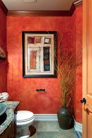 Paint Colors For Powder Room - portland faux paint colors powder room eclectic with wall