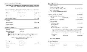 Catholic Mass Wedding Programs Wedding Mass R Lmarried Bio