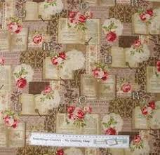 Shabby Chic Quilting Fabric by Antique Vintage French Roses Trellis Cotton Fabric Pink