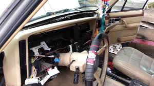 1993 jeep cherokee heater core repair youtube