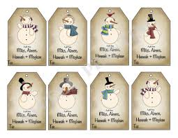 printable mr snowman gift tags holiday gift tag