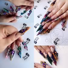 kirsty meakin acrylic butterfly nail art naio nails