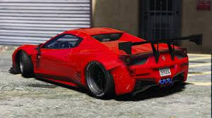 ferrari 458 custom liberty walk ferrari 458 spider add on tuning livery gta5