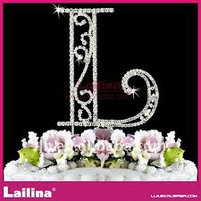 l cake topper custom rhinestone letter l cake topper for wedding celebration
