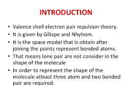 Definition Of Valance Postulates Of Vsepr Theory