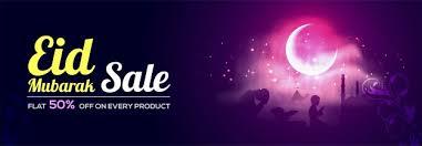 eid mubarak sale with flat 50 creative social media