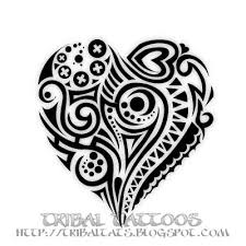 7 unique designs of tribal heart tattoos gallery body art painting