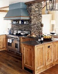 rustic kitchen lighting design marble flooring storage cabinets