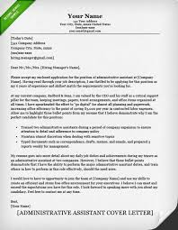 cover letter sample administrative assistant financial