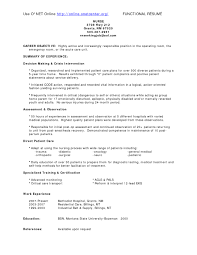 Cna Sample Resume Entry Level by Recovery Room Nurse Resume Resume For Your Job Application