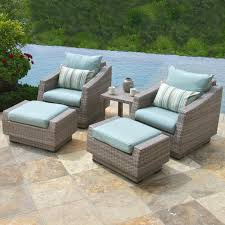 Reclining Patio Chair With Ottoman by Furniture Grey Wicker Patio Chair With Ottoman Set Having Blue