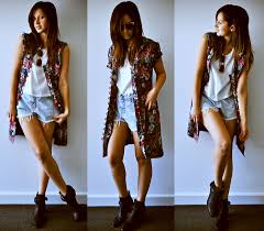 biker boot style friend in fashion vintage vest denim cut offs tony bianco