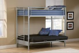 Twin Bunk Beds With Mattress Included Twin Over Futon Bunk Bed With Mattress Roselawnlutheran