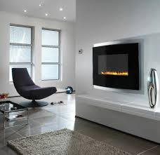 Trendy Wall Designs by Modern Wall Mounted Fireplace Interior Design Ideas